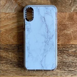 iPhone XS marble print cover